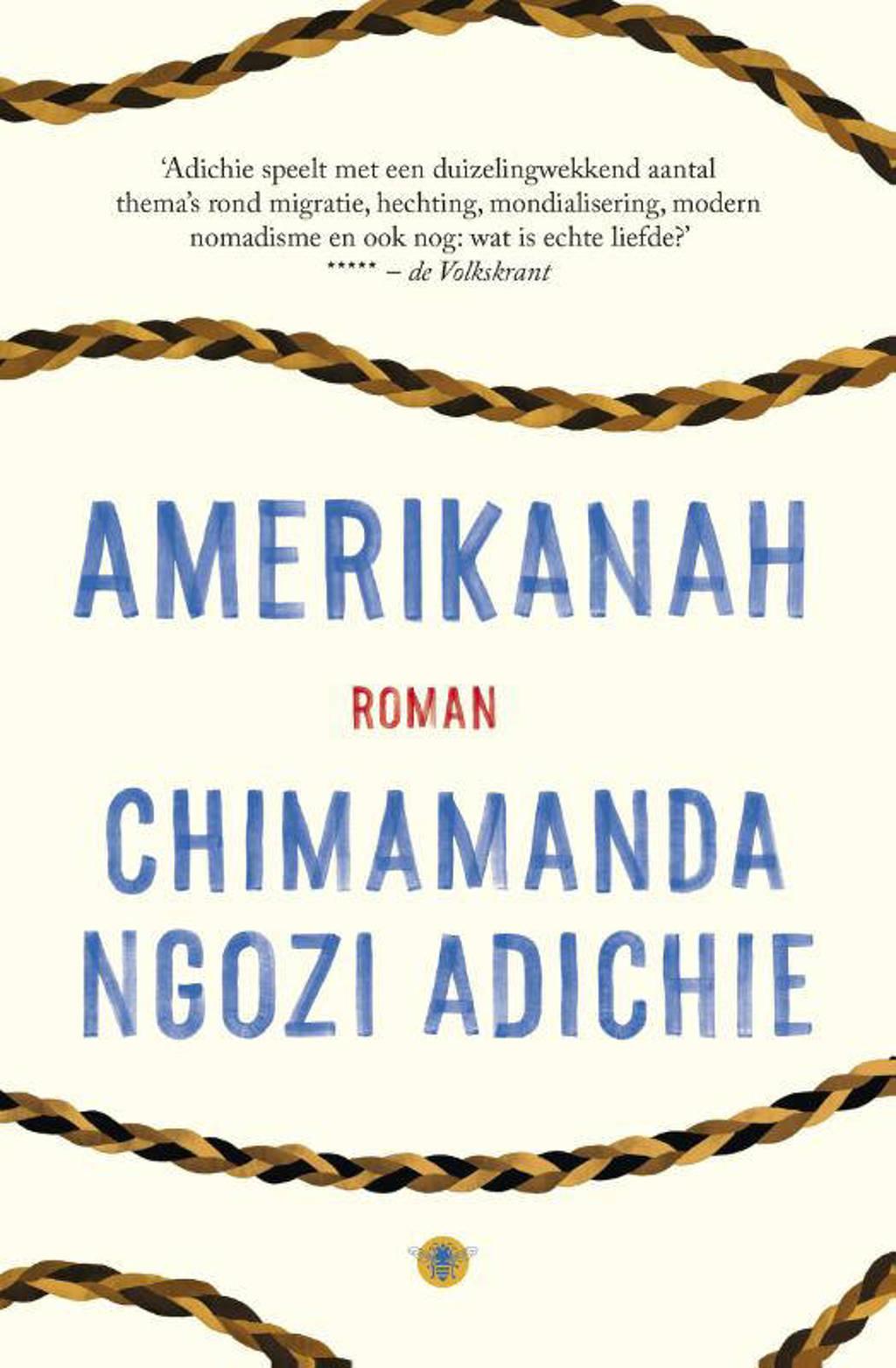 Amerikanah, Chimamanda Ngozi adichie - Dit boek past bij het boekenweekthema, omdat: Het is geschreven door oppervrouw Chimamanda Ngozi Adichie en vertelt het verhaal van verschillende vrouwen uit verschillende werelddelen. Dit is trouwens een van de mooiste boeken die die ik heb gelezen in 2018. Het is tevens ook een van de meest verslavende boeken.Korte samenvatting van het boek: Ifemelu en Obinze zijn hevig verliefd op elkaar. Hun geluk wordt wreed verstoord wanneer zij hun land Nigeria wegens de militaire dictatuur moeten verlaten. De mooie, zelfverzekerde Ifemelu gaat in Amerika studeren, waar ze te maken krijgt met tegenslag en vernederingen. Obinze gaat naar London, maar krijgt daar te maken met illegaliteit.