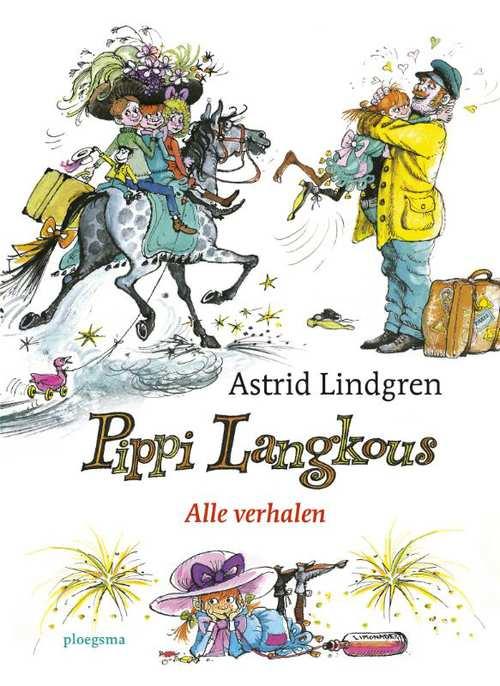 """Pippi Langkous, Astrid Lindgren (1945) - Pippi kan paarden optillen, heeft een hutkoffer vol goud, haar moeder is in de hemel en haar vader piratenhoofdman en koning van Taka-Tukaland. Ieder kind wil Pippi zijn. Iedere volwassene ook.Favoriete citaat: """"Nou,' zegt de dokter, 'wat is er fout met die daar?''Ik ben zo ziek dokter, ik heb spoenk."""""""