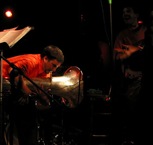 Ron Caswell and Brandon Seabrook,  Ringleaders  band 2004 Lizard Lounge Cambridge MA