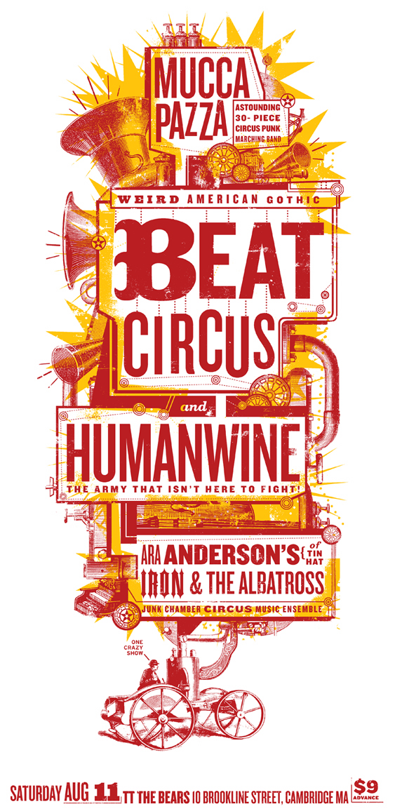 AUG 11 2007 TT THE BEARS w/HUMANWINE, ARA ANDERSON, MUCCA PAZZA.. BY LURE DESIGN