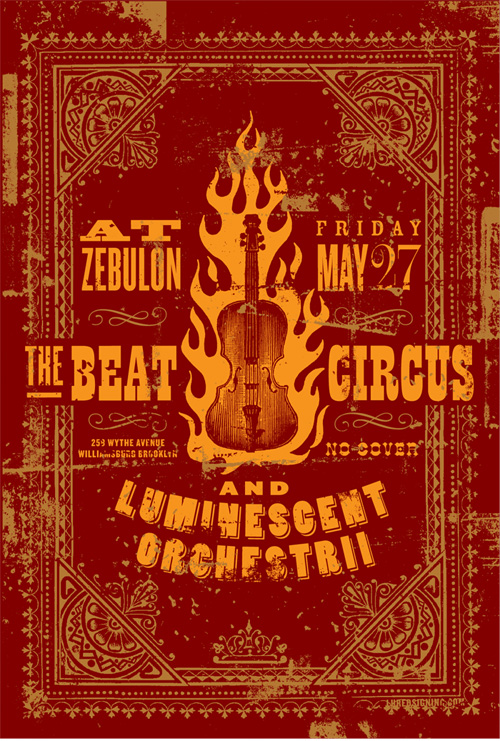 MAY 27 2006 ZEBULON BROOKLYN NY w/LUMINESCENT ORCHESTRII. BY LURE DESIGN