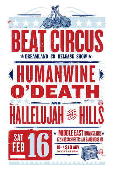 FEB 16 2008 w/O'DEATH, HUMANWINE, HALLELUJAH THE HILLS. BY LURE DESIGN