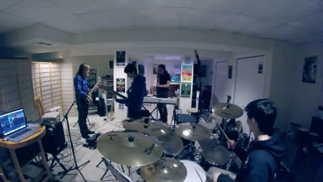 """WHAT A THROWBACK to our first ever practice as a band. We went through a bunch of names before coming up with Vendetta Rose. One of them was """"The Broken Lights"""" 😑. ANYWAY - check out this clip of literally the first time Alec showed us """"Over and Under!"""" ➡️ swipe left and see where we're at now with this song, if you haven't seen the full music video yet it's on our YouTube page! Enjoy the #throwback🤠"""