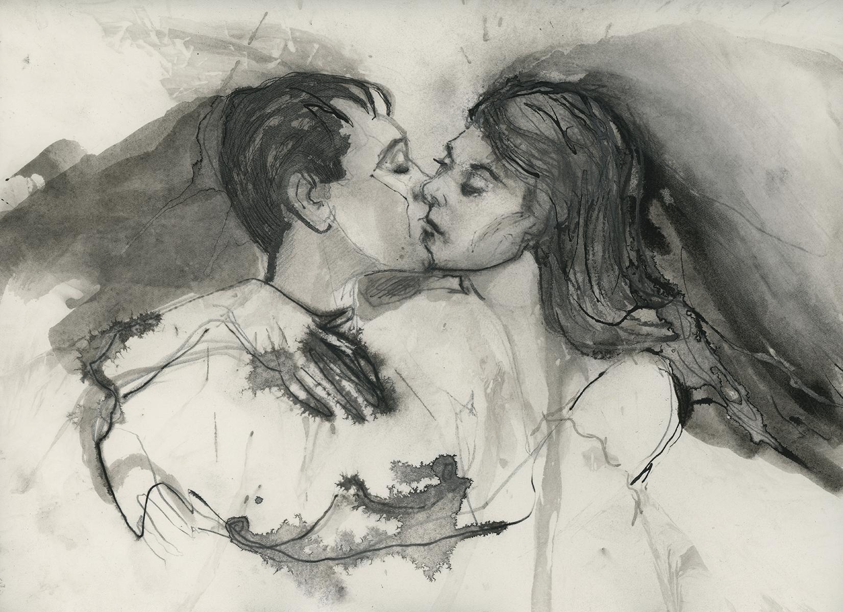 Kiss (11 x 14 inches)