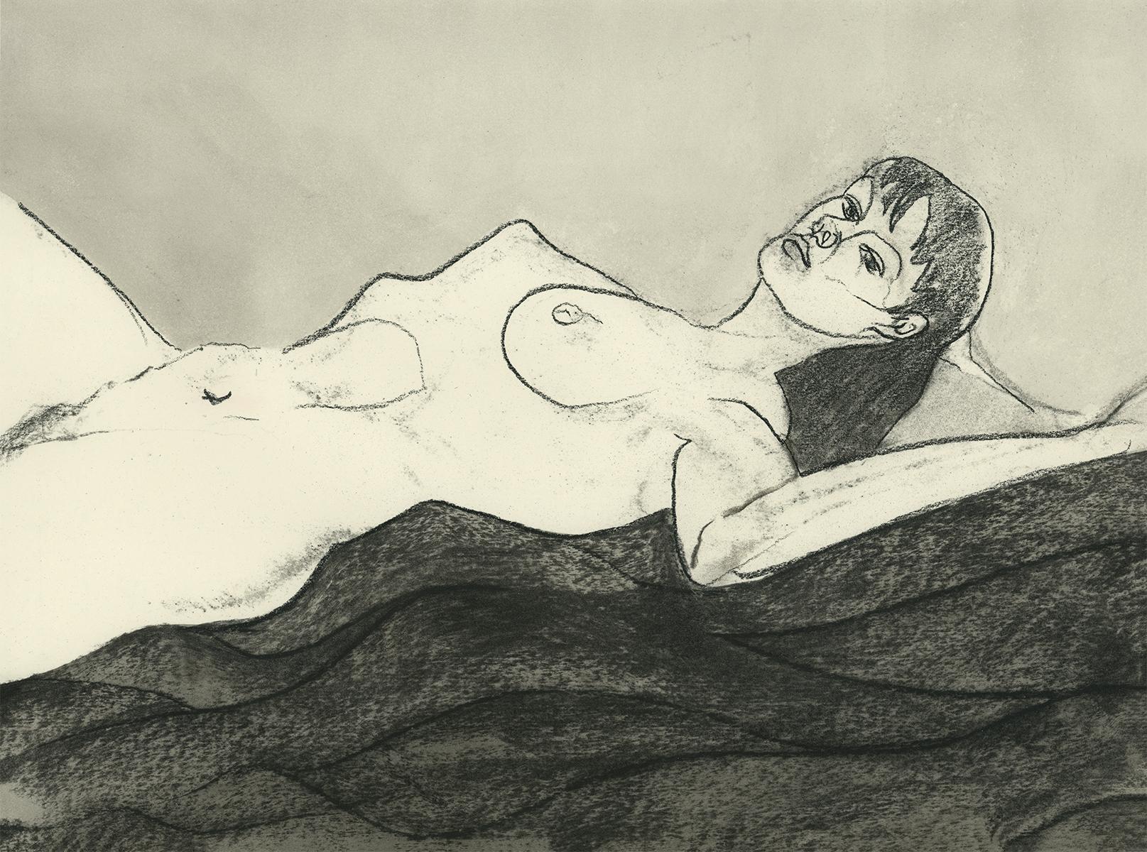 Miriam Reclining (11 x 14 inches)