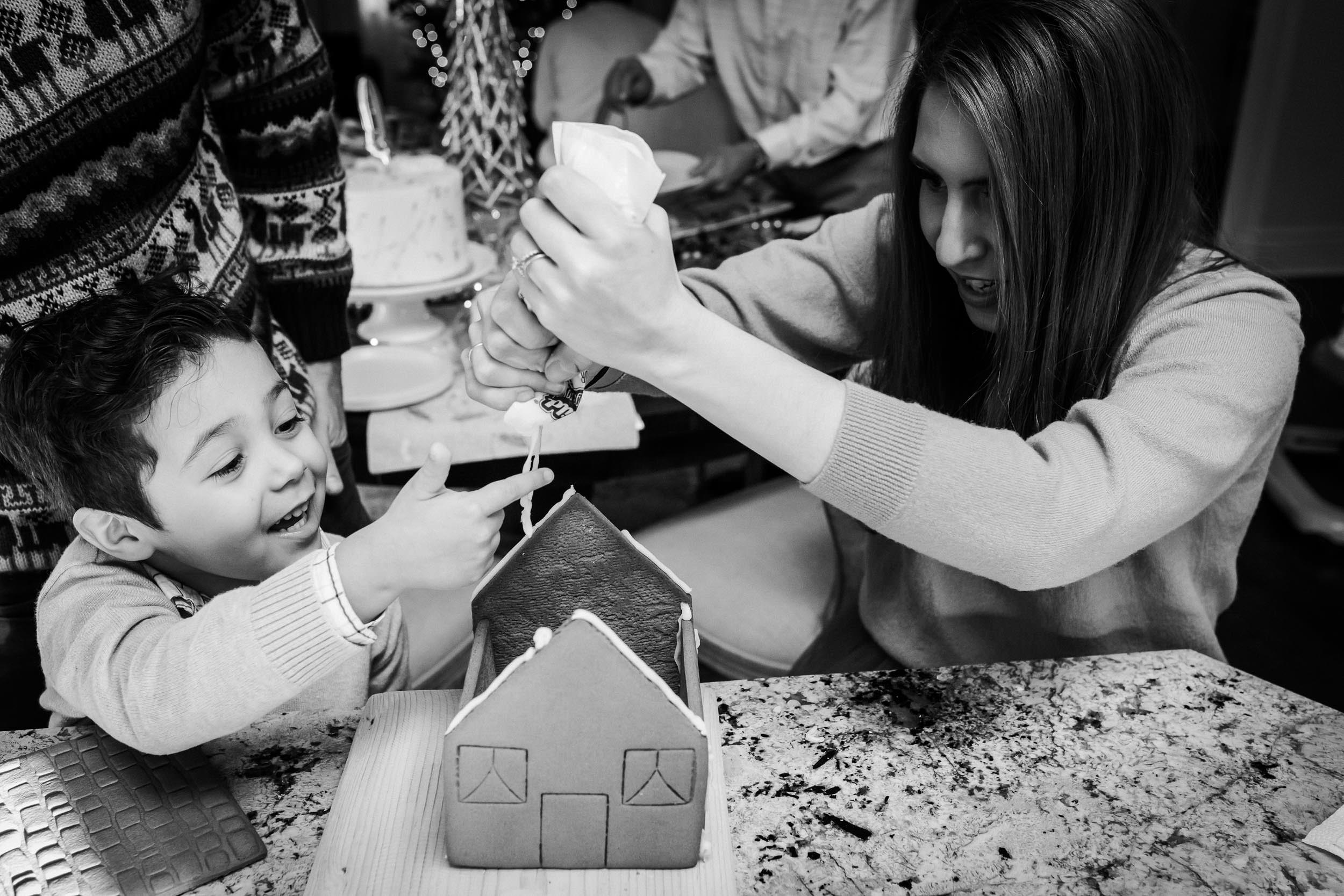 building a cookie house with your aunt is fun, messy and worth remembering.
