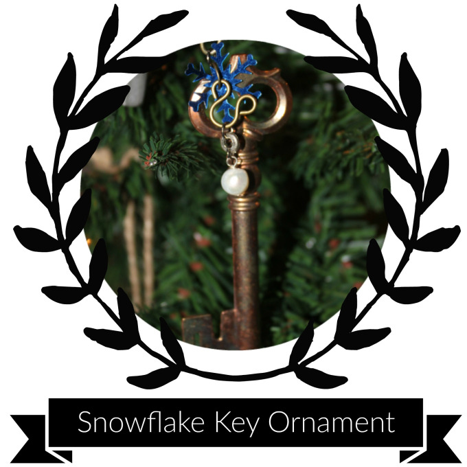 Supplies & Tools - Skeleton KeySnowflake SequinWasher (small)Pearl (or any other bead you desire)Clothing HookChristmas Tree HookJump rings (2 small and 1 large)Headpin (1)AwlPair of flat nosed pliersPair of needle nosed pliersWire cutters