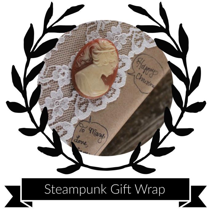 Supplies & Tools - Wrapping paperLaceRibbonSpringTwig of berriesScissors & tapeLocketCameoCoin PurseFlowerSprings