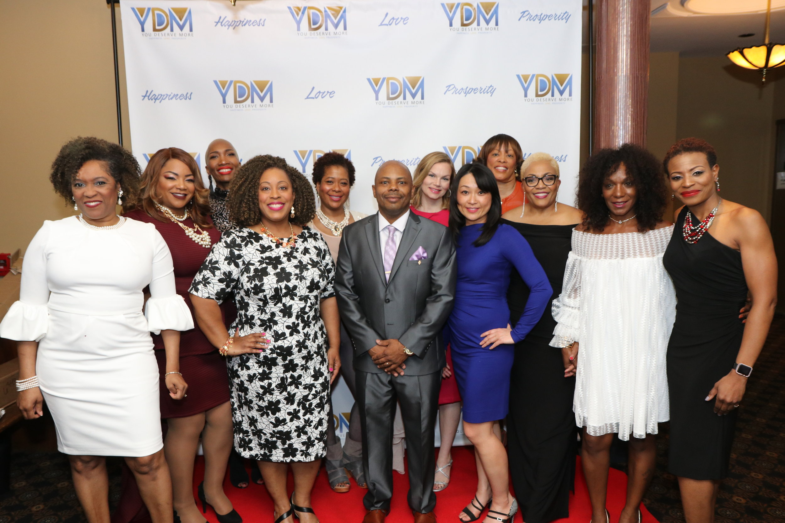 THE CAST (From left to right) and (Center) - Executive Producer and Director, Dr. Dwayne L. Buckingham  Cynthia Greene, Malaysia Gresham Harell, Tonie Restrepo, Cheryl Wood, Towan Isom, Leandra Hahn, Kimi Donahue, Dr. Karen Bethea, Joan T. Randall, Gigi McMillan and Diedre Presley.