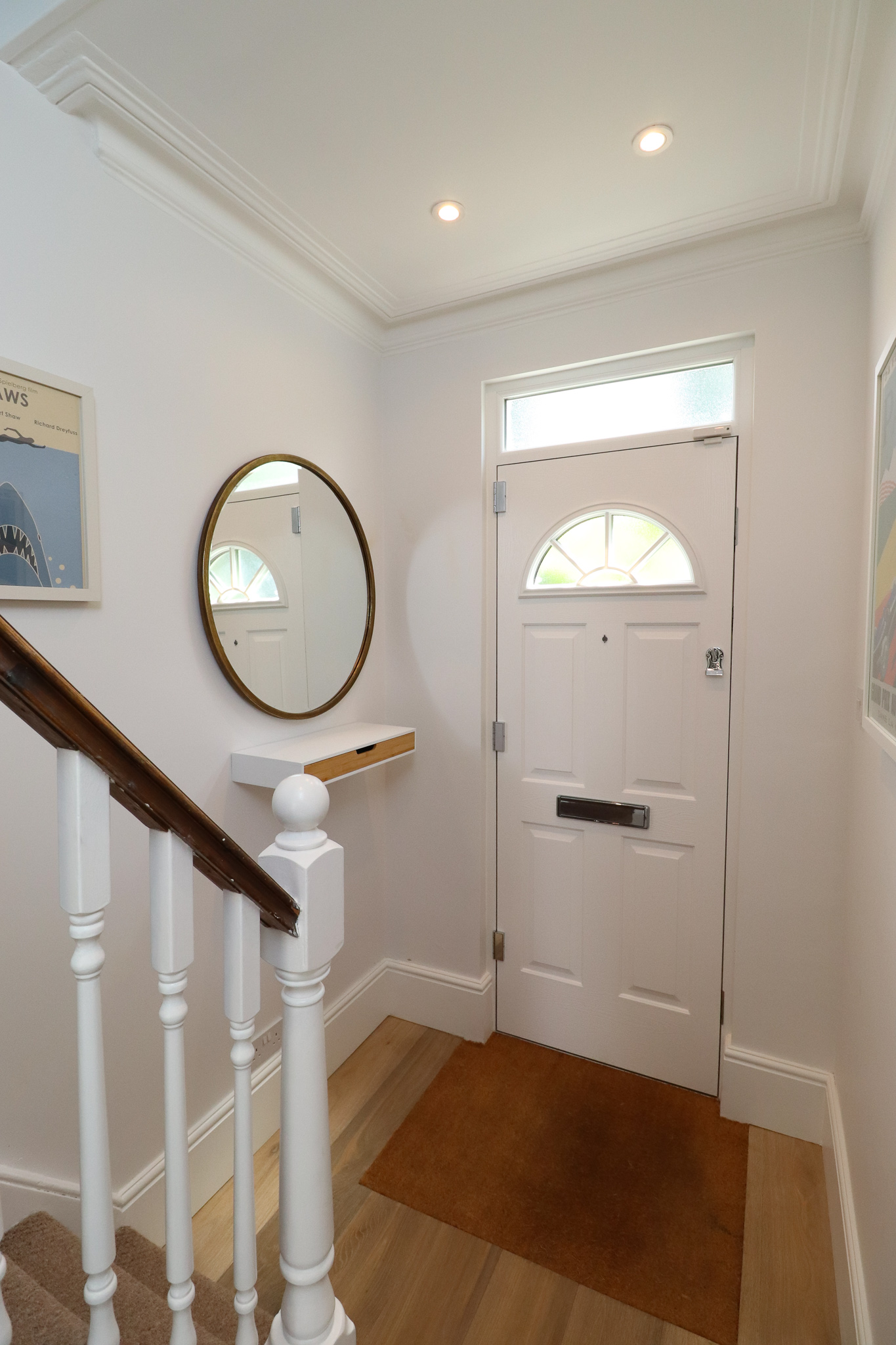 WHITE HALLWAY, FRONT DOOR, RENOVATION, STAIRCASE.jpg