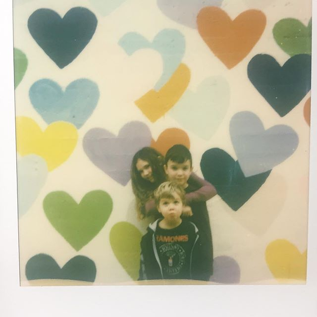 What we did today.... #confettiheartswall #film #polaroid