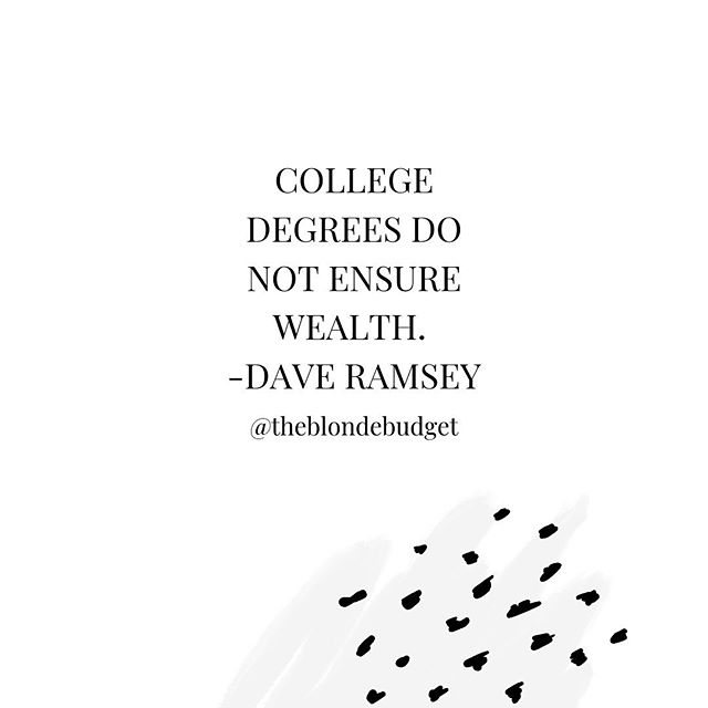 The pressure high school students have today to go to a 4-year University is INSANE. 😱 I'm not about it. Especially if they can't afford it. • • Who out there didn't attend a 4-year University straight out of high school and loves their decision?! ✨