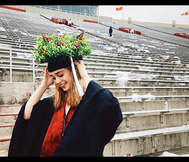 I wanted to show off all of my personal growth. (Get it? Personal GROWTH? Cause of the plants? Anyway, I graduated.) #graduation #iubgrad19 #indianauniversity #graduationcap #classof2019 #personalgrowth