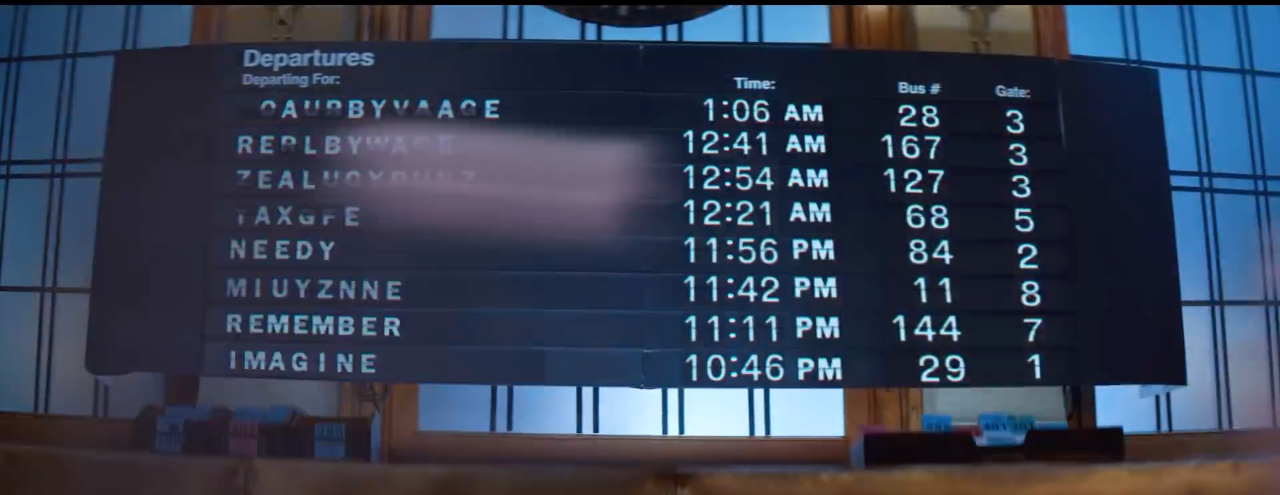 """Turnstiles from """"breathin"""" music video featuring 3 potential tracks (NEEDY, REMEMBER, and IMAGINE) from her new project."""