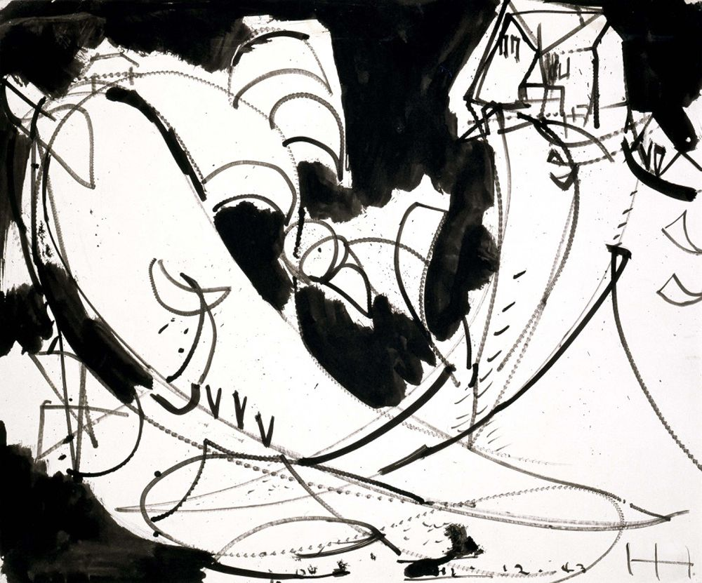 Untitled,  1943 Ink on paper 14 x 17 inches