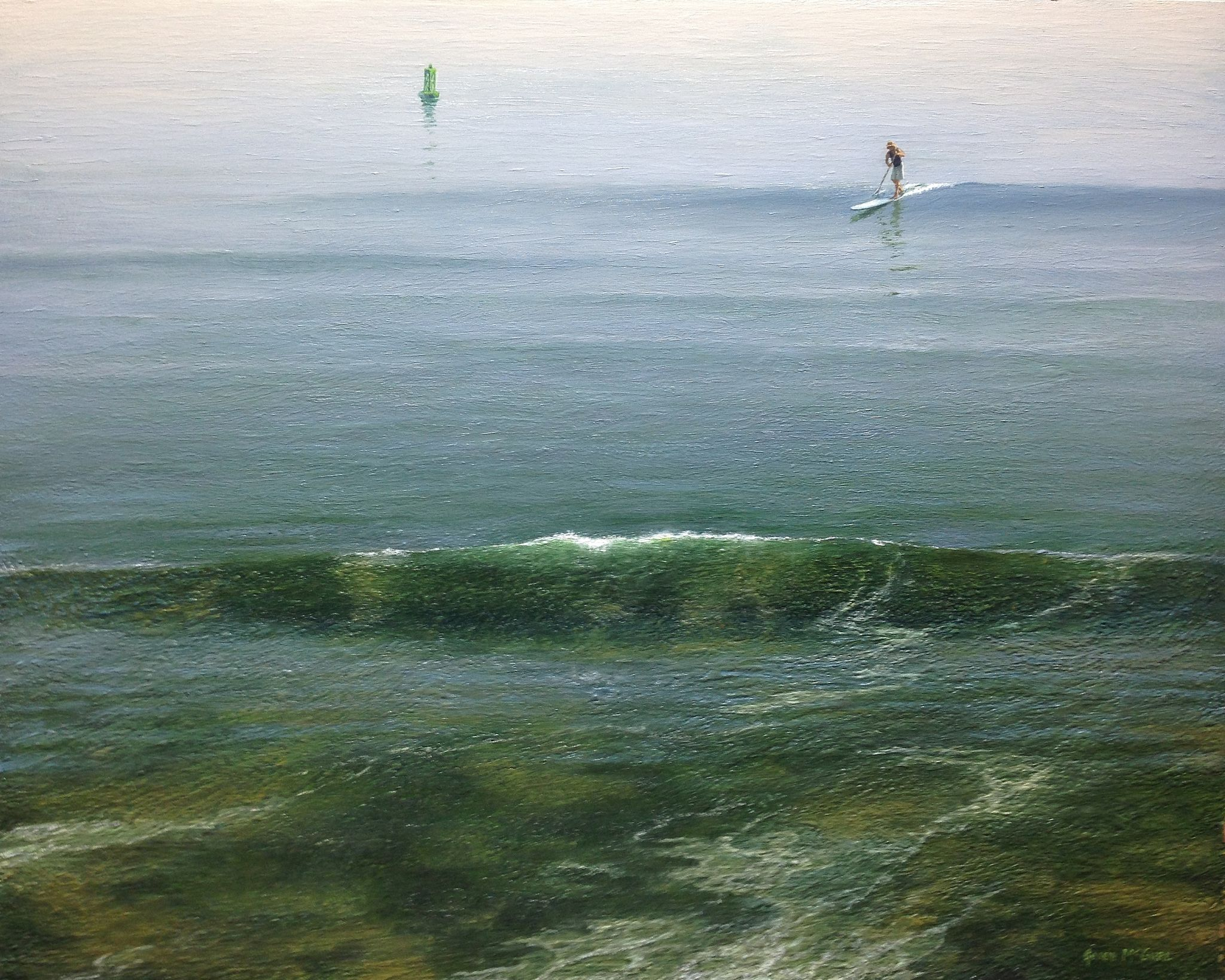 The Paddleboard,  2016 Oil on panel 24 x 30 inches