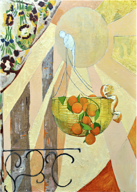 Basket of Oranges,  2012 Oil on canvas 48 x 36 inches