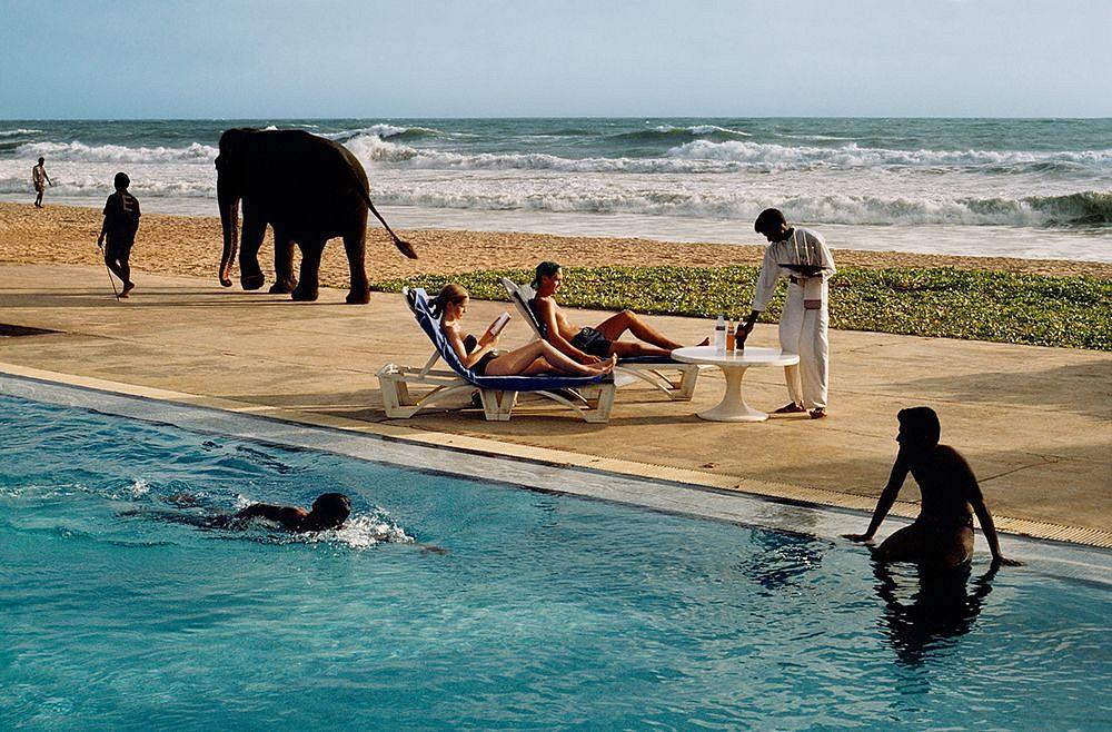 Tourists at a Resort, Bentota, Sri Lanka,  1995 FujiFlex Crystal Archive Print 40 x 60 inches