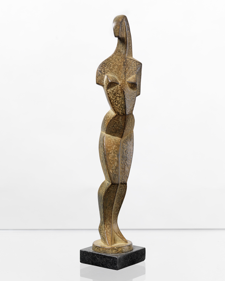 Jeune Fille, ed. 2/8,  1992 Patinated bronze 14.5 x 3 x 3 inches