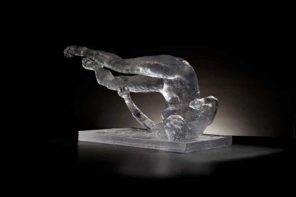 Tumbling Woman, ed. 2/10,  2012 Cast glass 12 x 18 x 14 inches