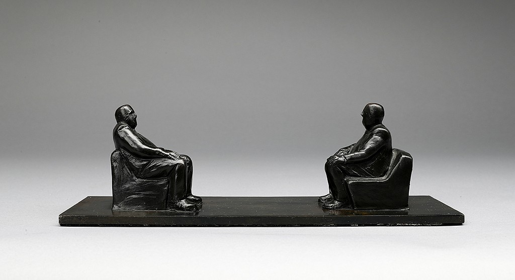 Face to Face, ed. 6/9,  2010 Bronze 3.5 x 11 x 3.63 inches