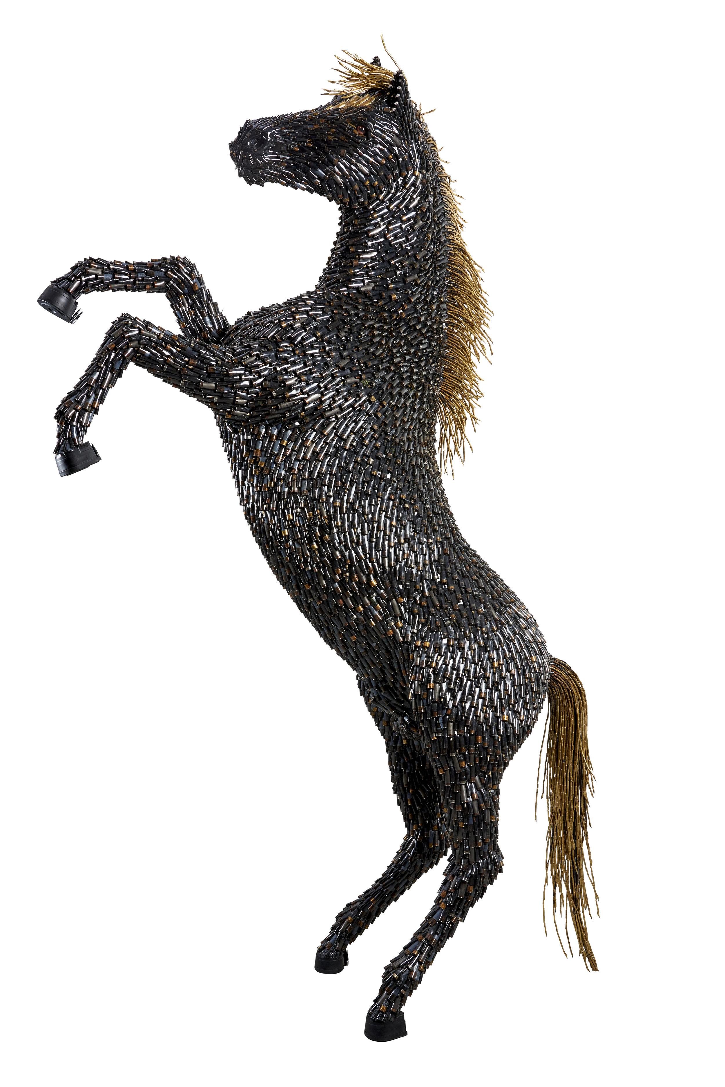 Horse , 2016 Bullet shells 126h x 83w x 34d inches