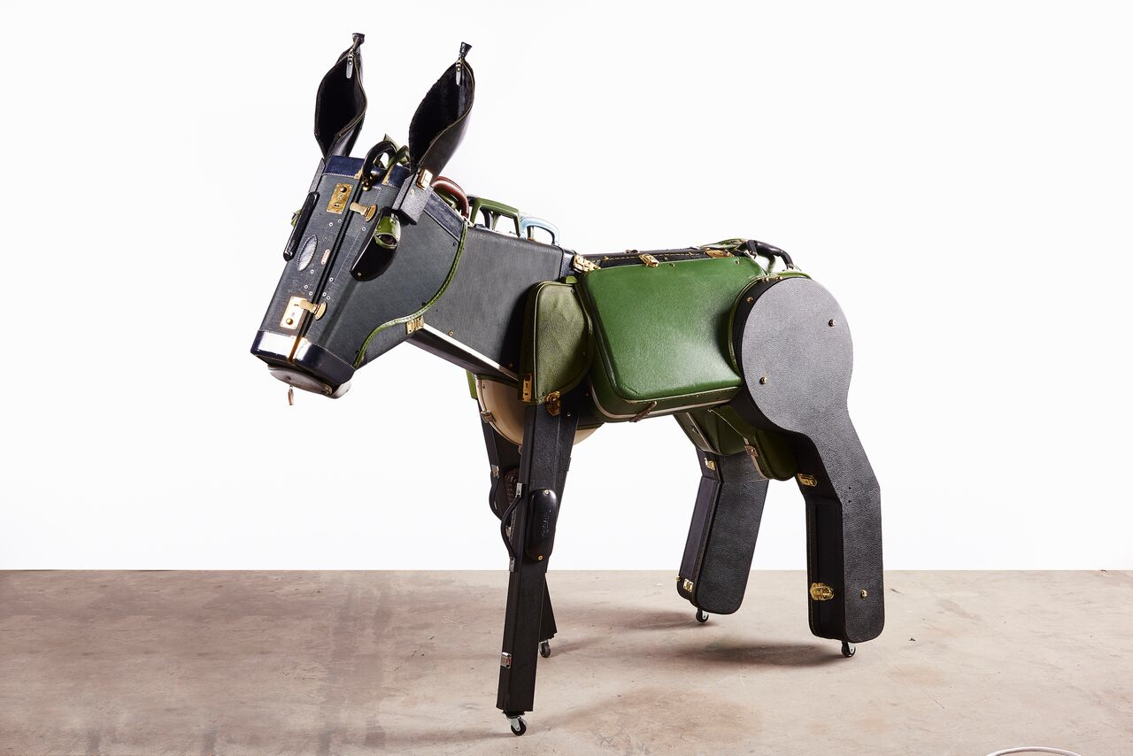 Donkey , 2016 Suitcases 62h x 67w x 24d inches