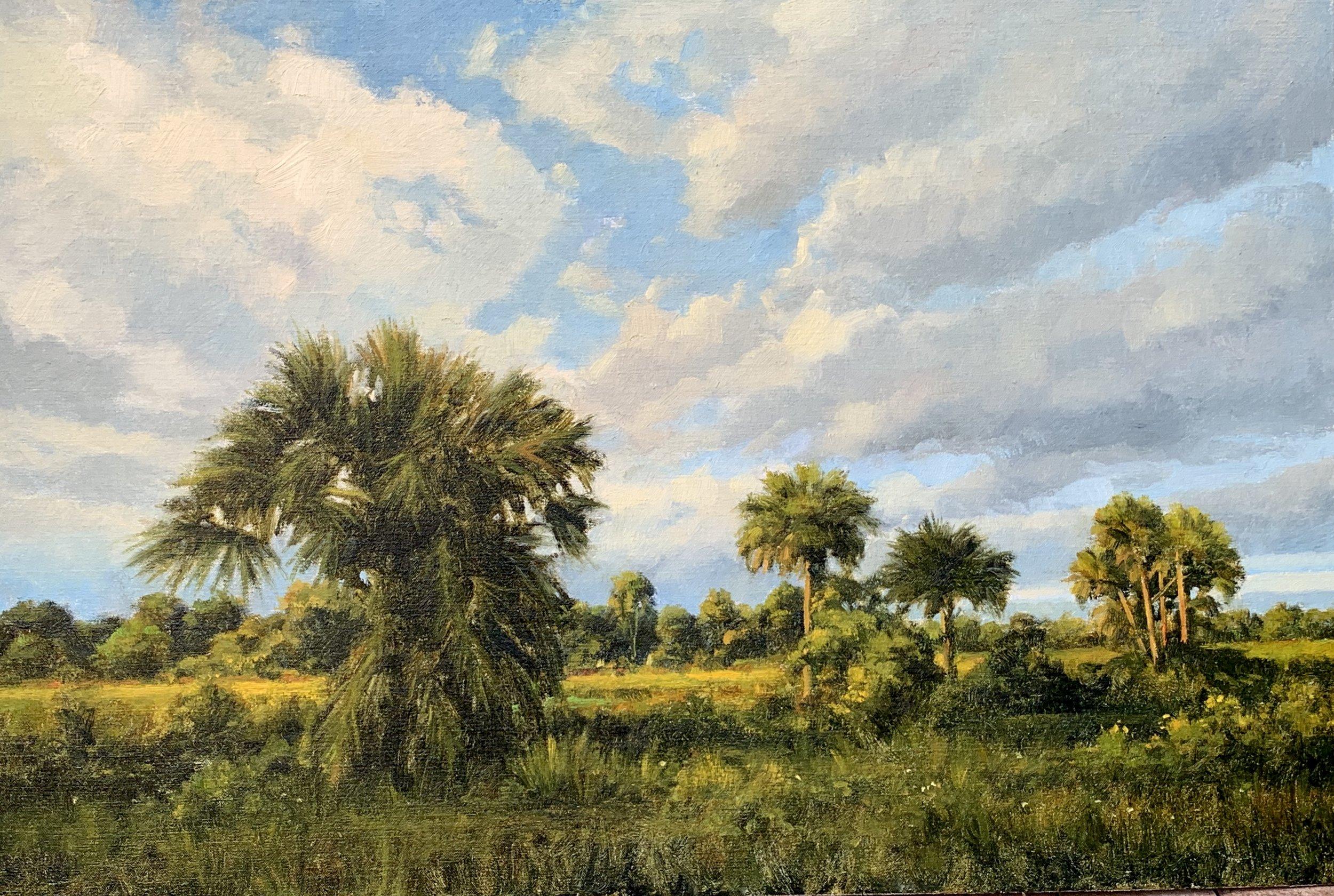 Silent Prairie,  2018-19 Oil on canvas 20 x 30 inches