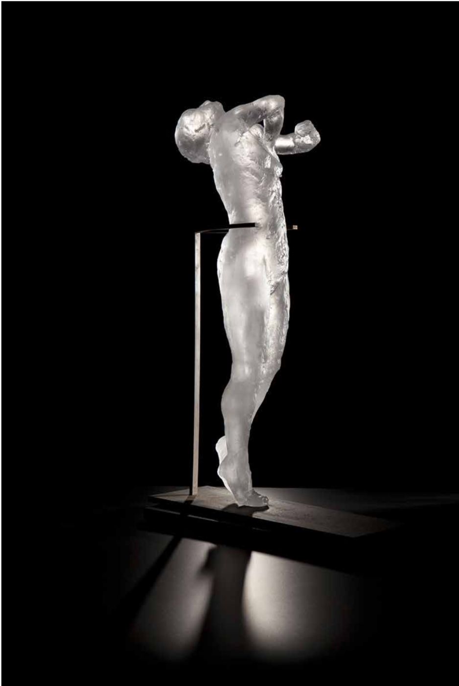 Untitled (Arching Woman), ed. 4/10,  2011 Cast glass 24 1/2 x 9 x 11 inches