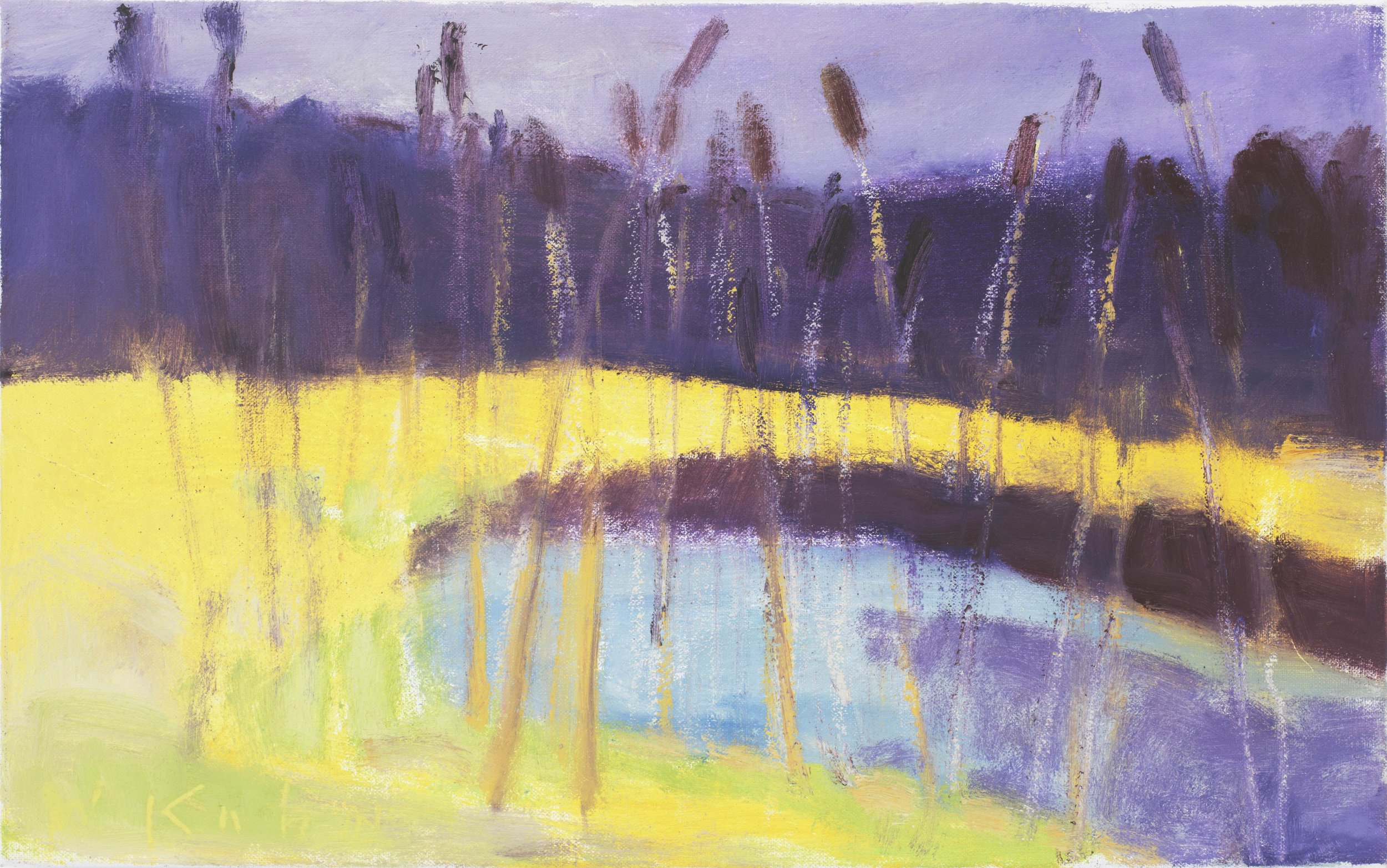Cattails II , 2003  Oil on canvas  10h x 16w in