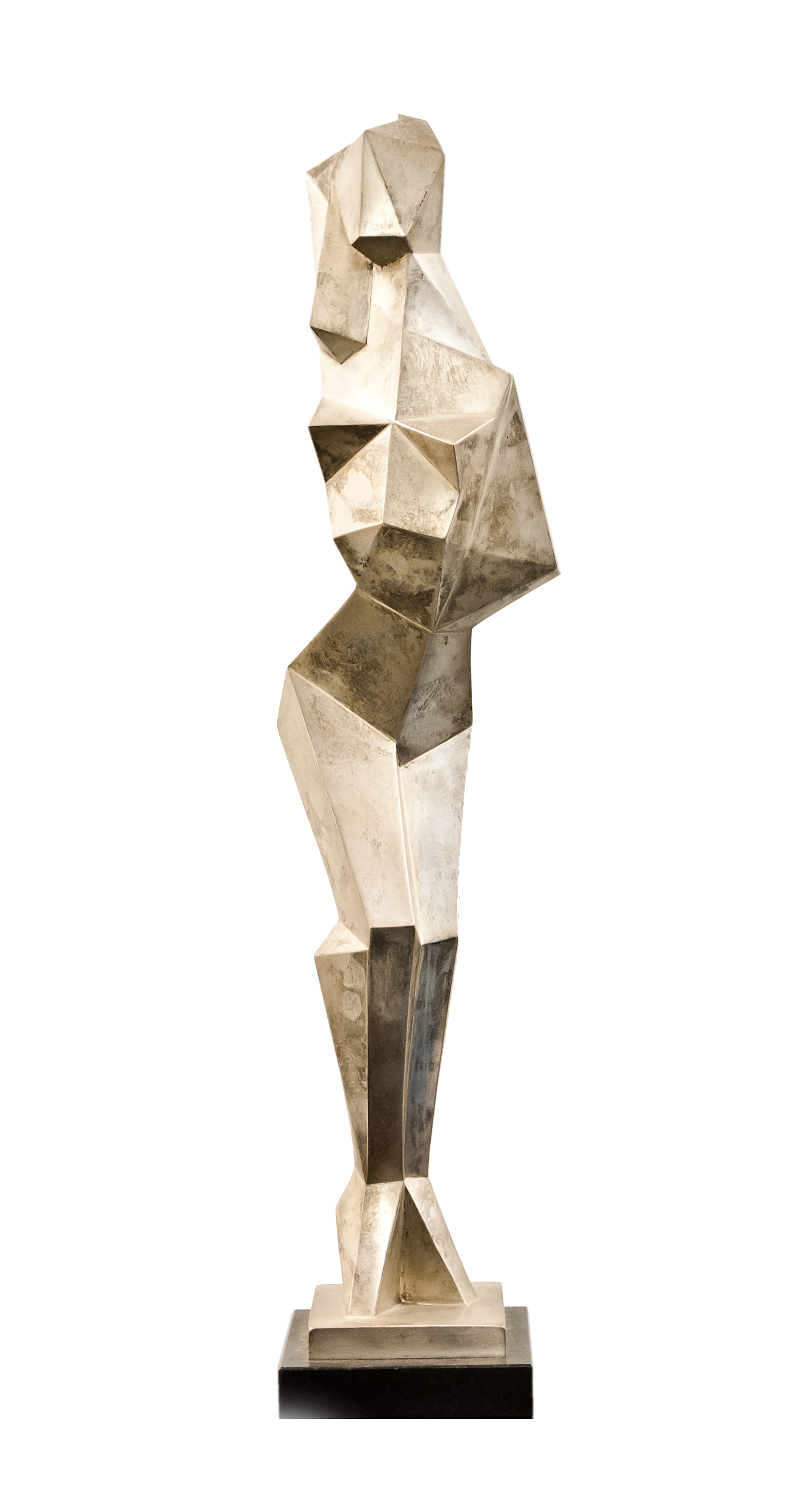 Cubist Nude 102, ed. 2/8,  1994 Silver 18 x 3 1/2 x 3 1/2 inches