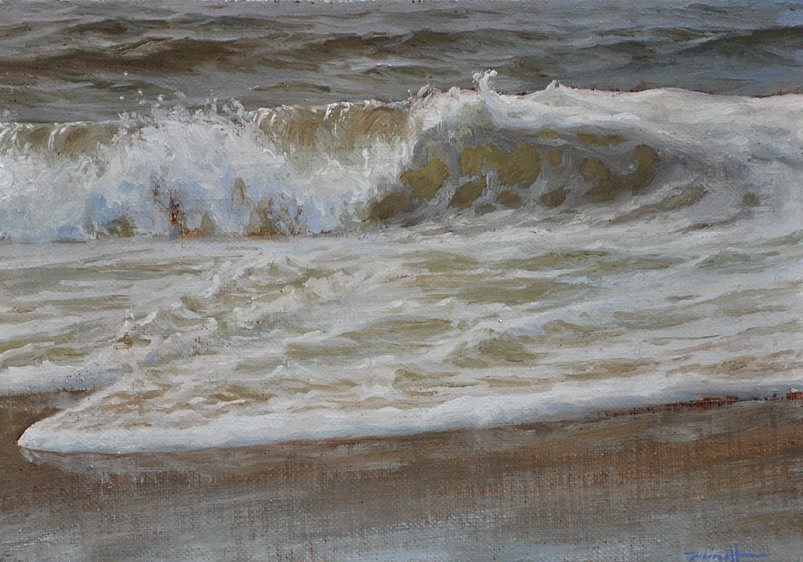 Froth,  2018 Oil on linen on panel 5 x 7 inches