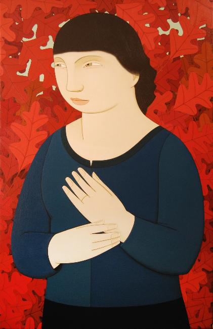 Sophie ,  2012 Oil on linen 42 x 27 inches
