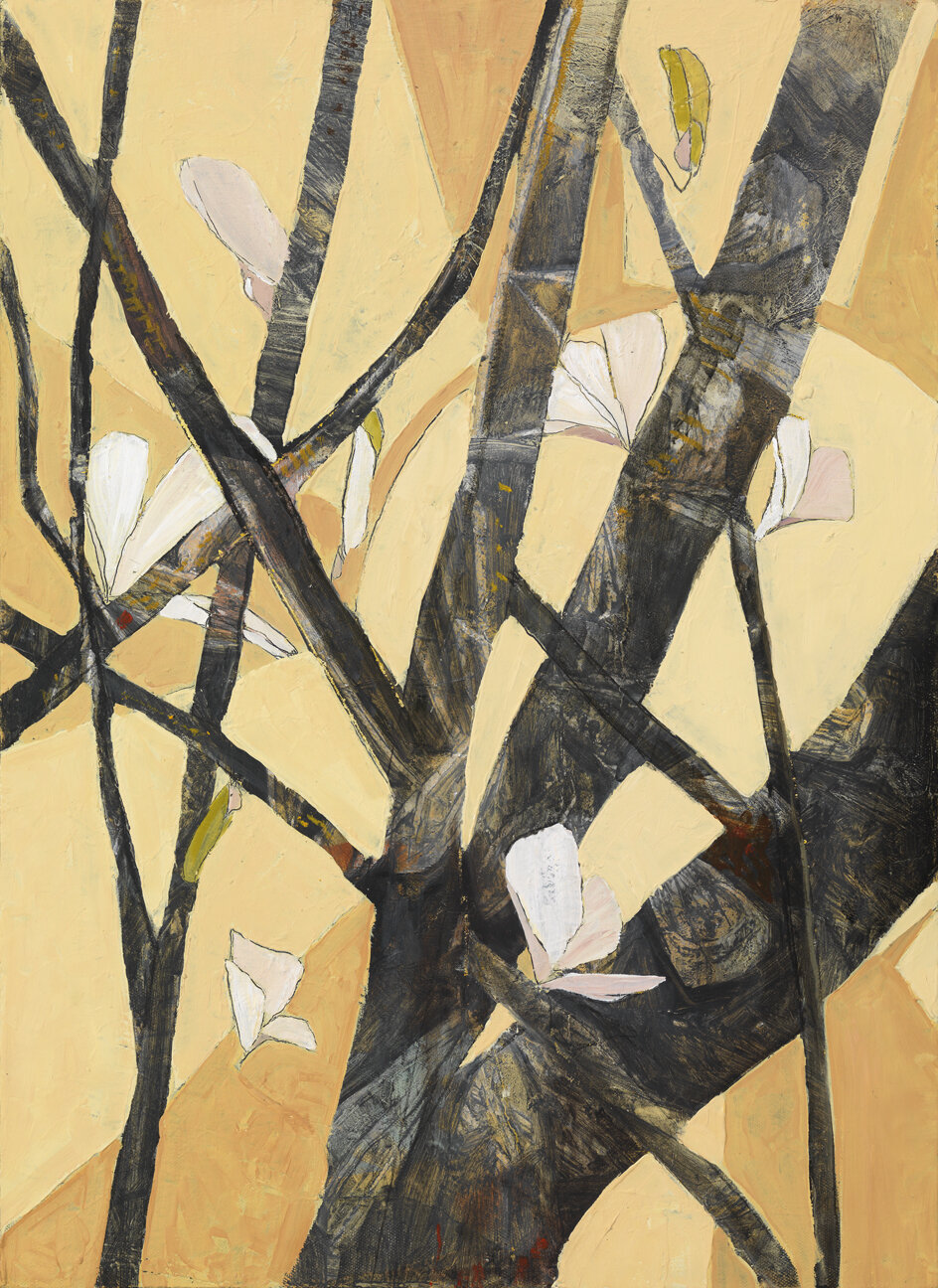 Beacon Street, Branches,  2015 Oil on canvas 21 5/8 x 16 inches
