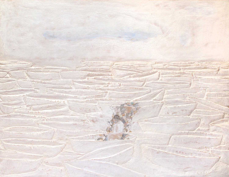 La Nube,  2014 Mixed media on wood panel 39 x 51 inches