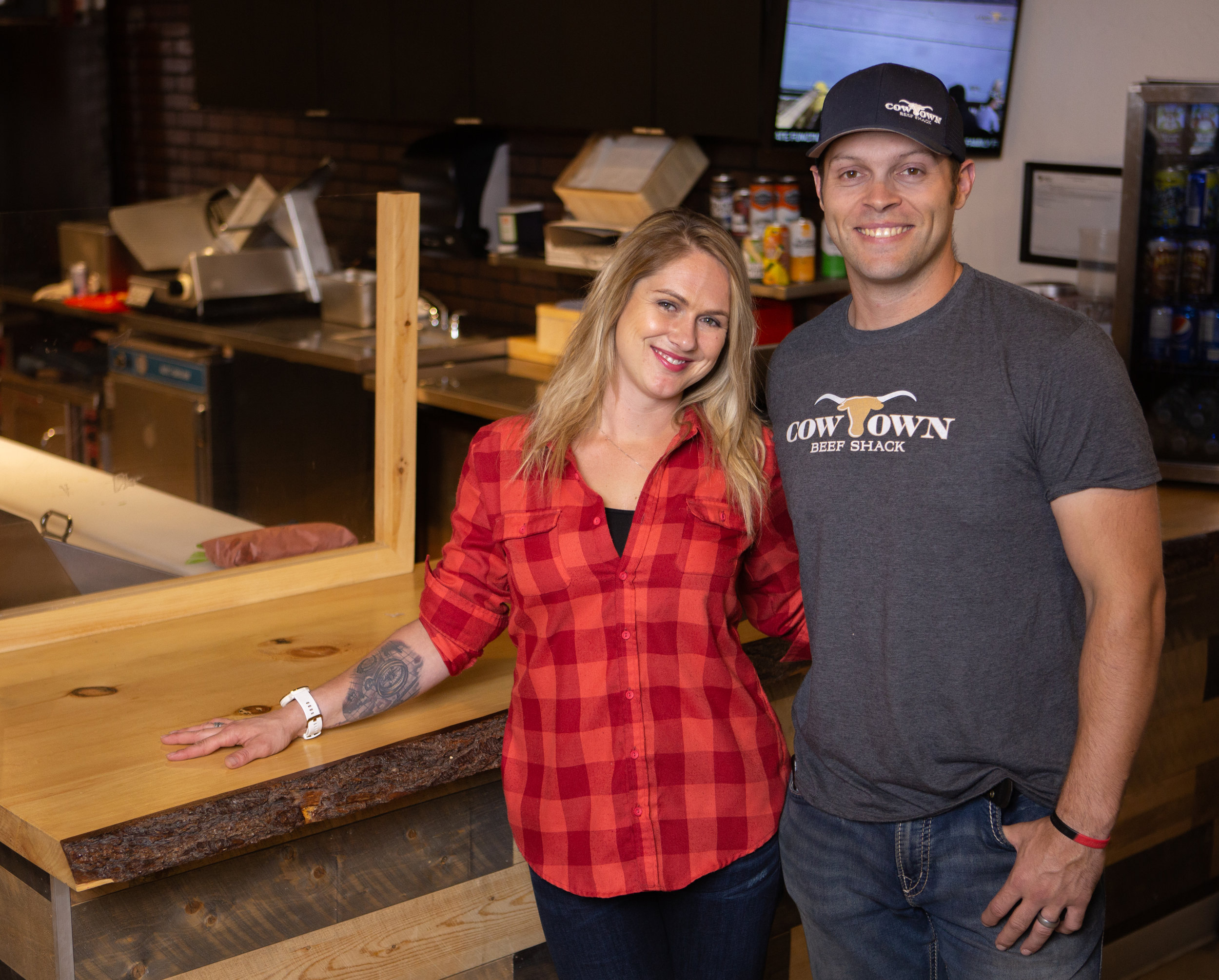 Meet us! - Reed and Nicole started Cowtown Beef Shack in Bragg Creek July of 2018. Having an affinity for the outdoors, and using the spectacular trails in the area.. Saw a need for something unique dining experience to the area. Somewhere you can go get a great sandwich, and a craft beer after a hard bike ride in West Bragg.