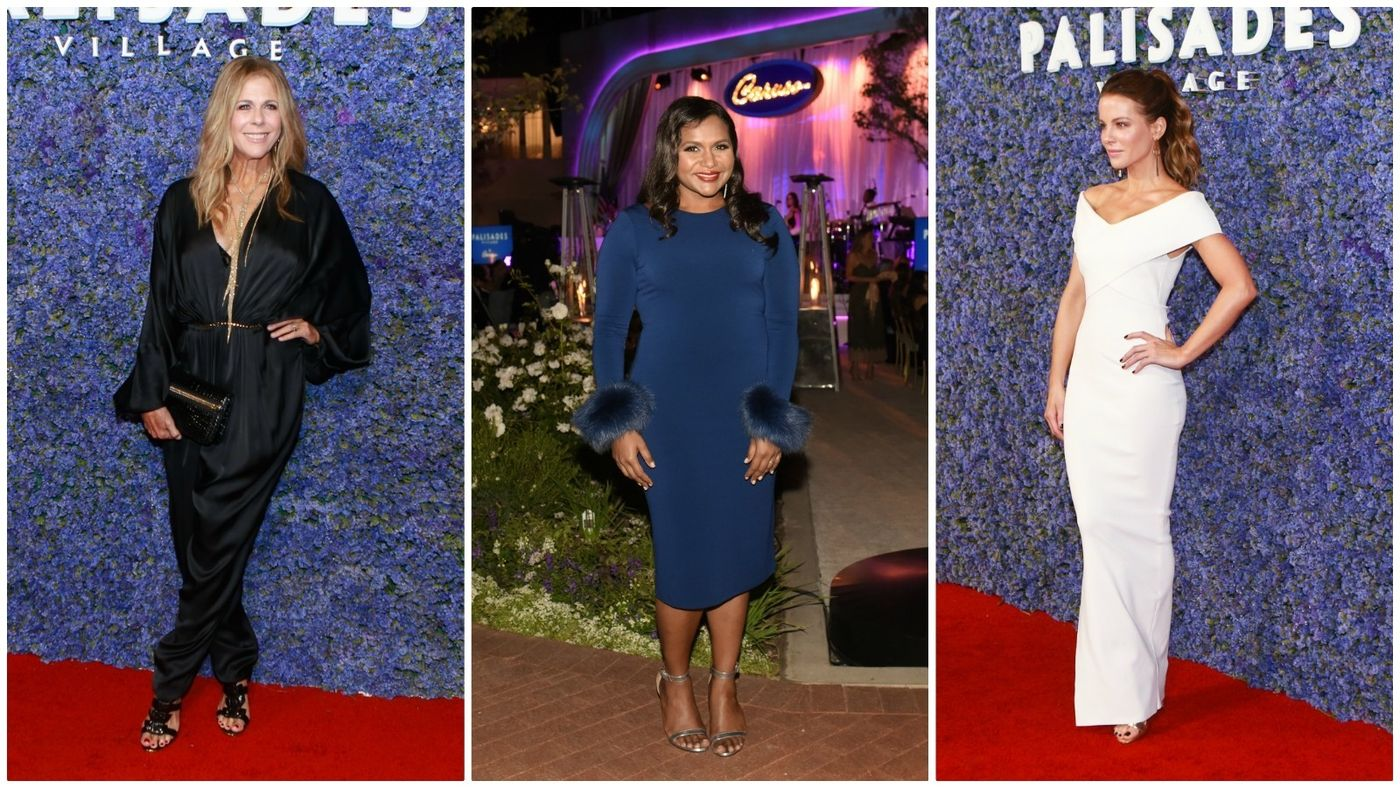Guests at the black-tie gala included Rita Wilson, from left, Mindy Kaling and Kate Beckinsale.
