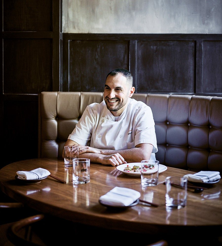 Outstanding chef Tony Messina takes a break from the kitchen at Uni.