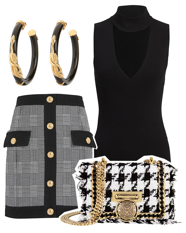 1. Black and white upgrade - The monochrome pairing goes graphic in fresh checks and prints