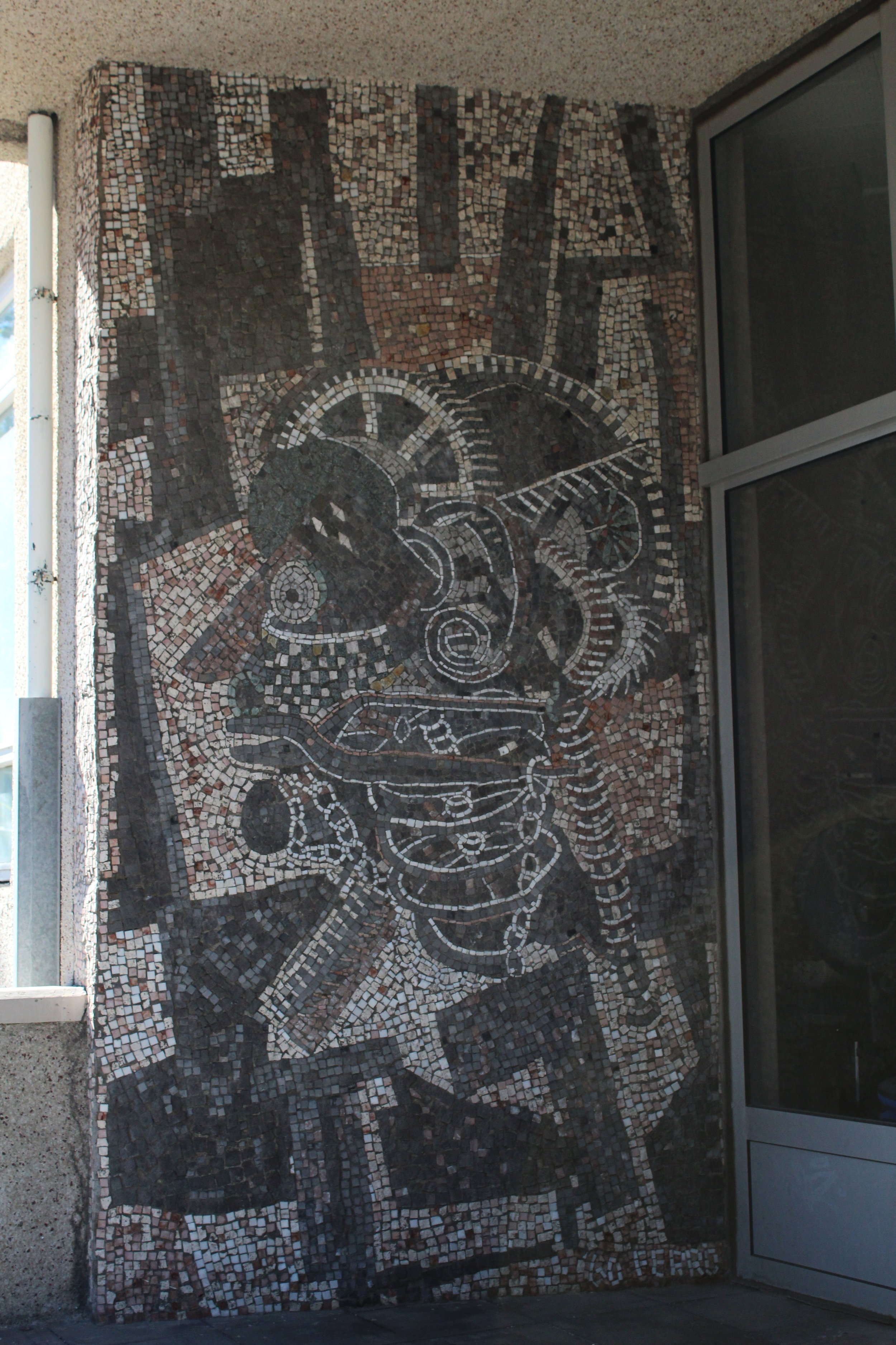 Mosaic on a building