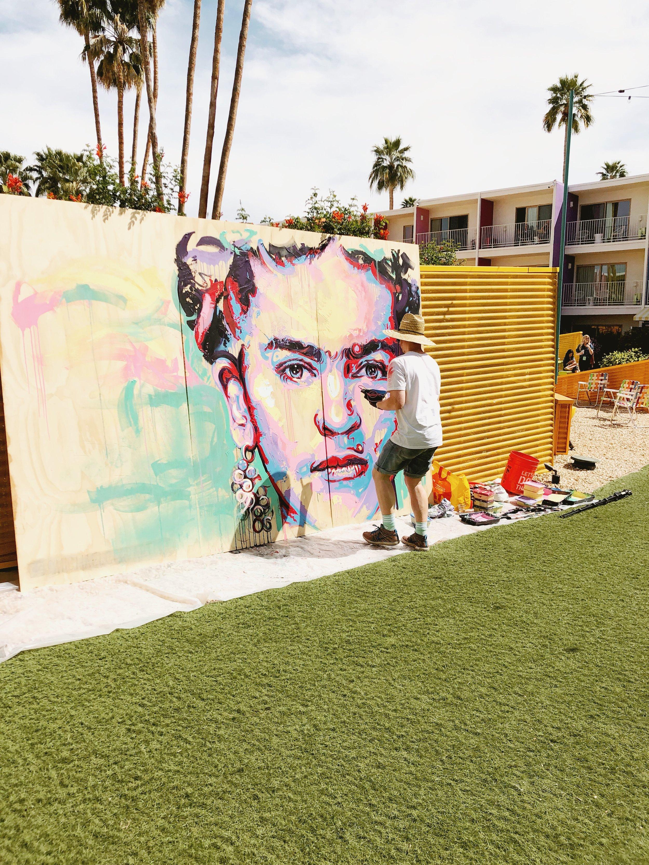 Mural at the Saguaro