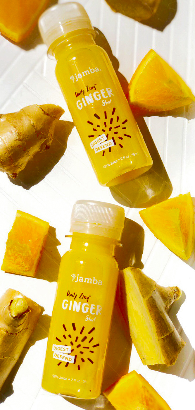 Preggo Tip: - If you are a pregnant mama and experiencing nausea go to Jamba Juice and get a ginger shot- or buy a juicer and make your own. If you do make your own, add some orange juice with some cayenne pepper and chug!
