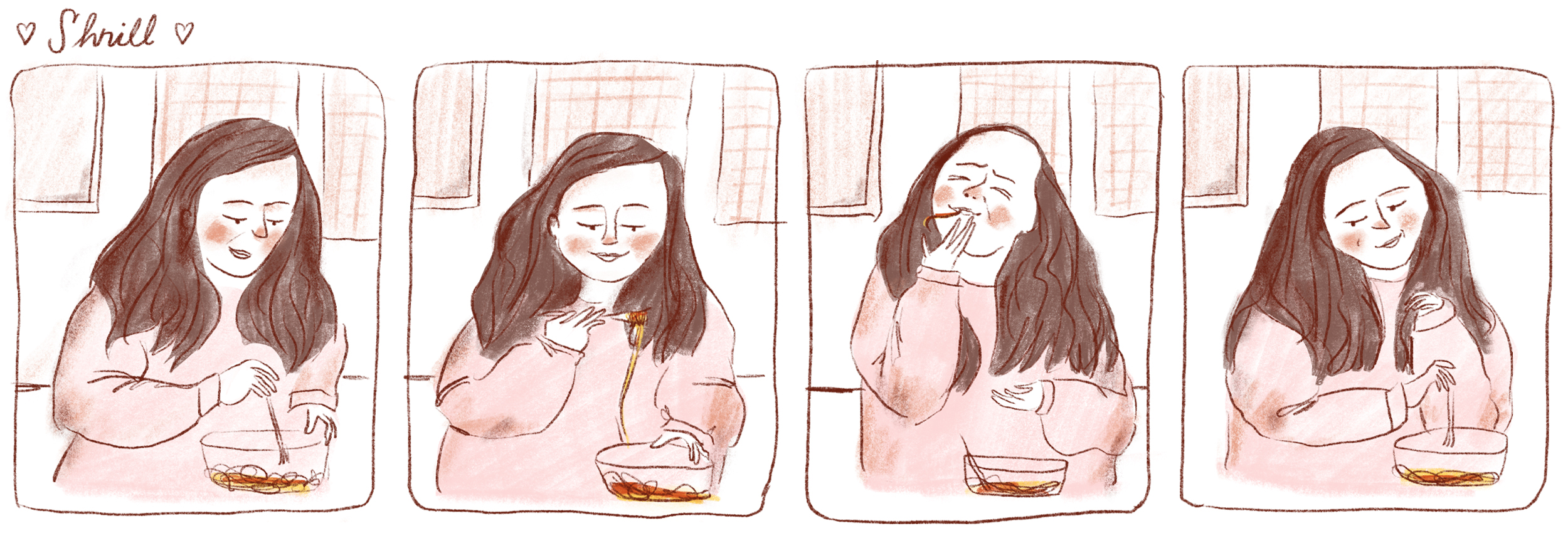 Comic inspired by the show Shrill with Aidy Bryant