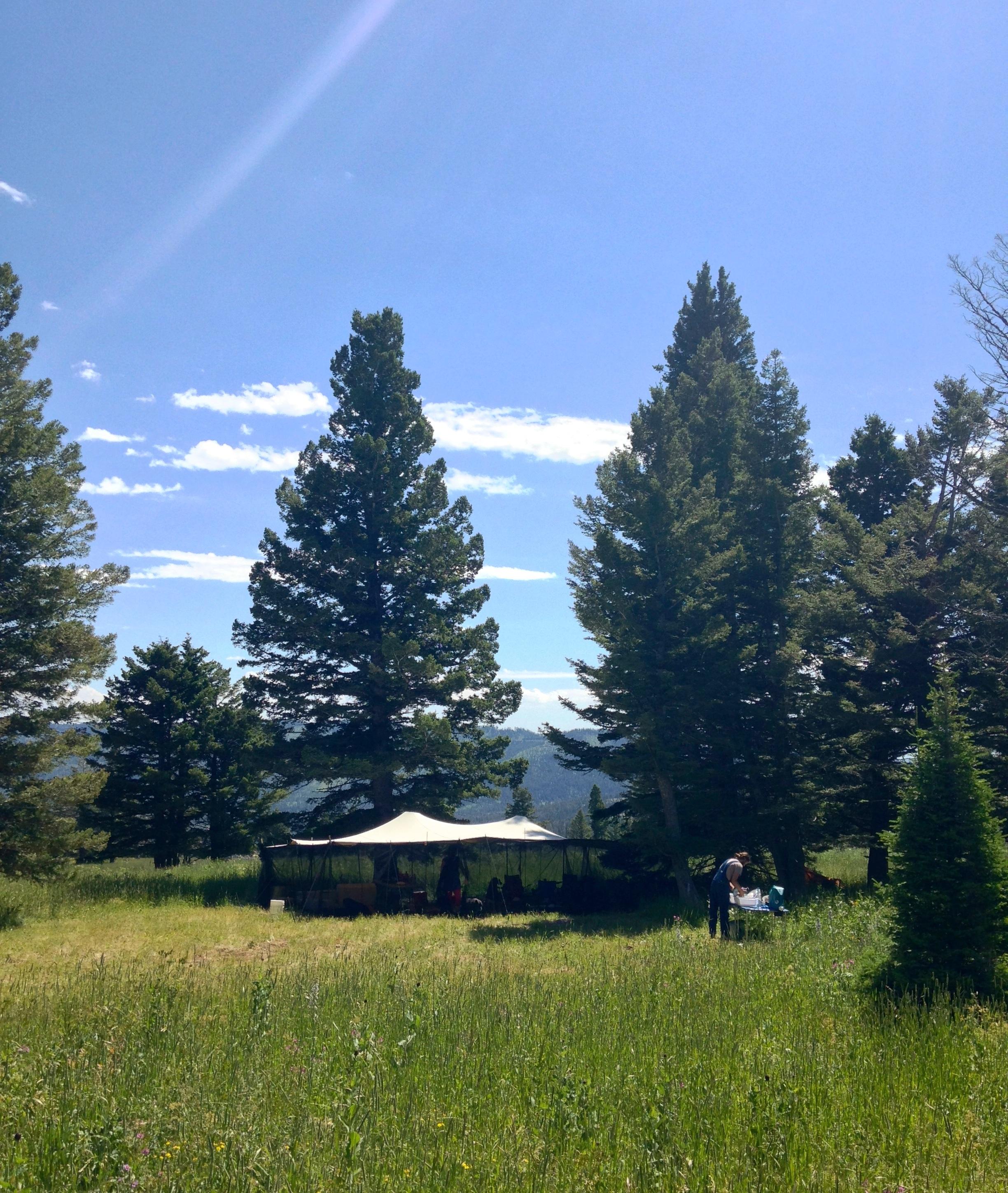 Basecamp, outside of Bozeman, MT