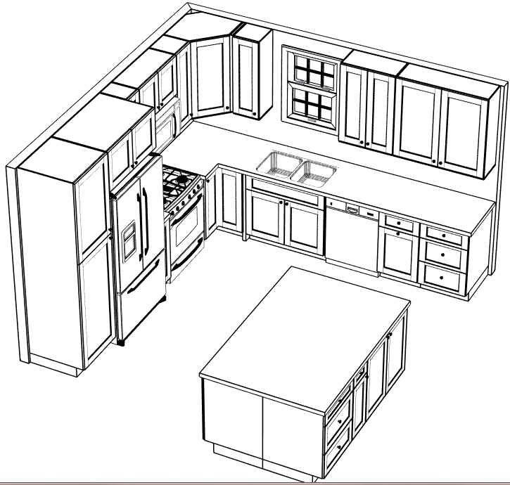 Cabinet design. Peninsula will almost double with the added oven.