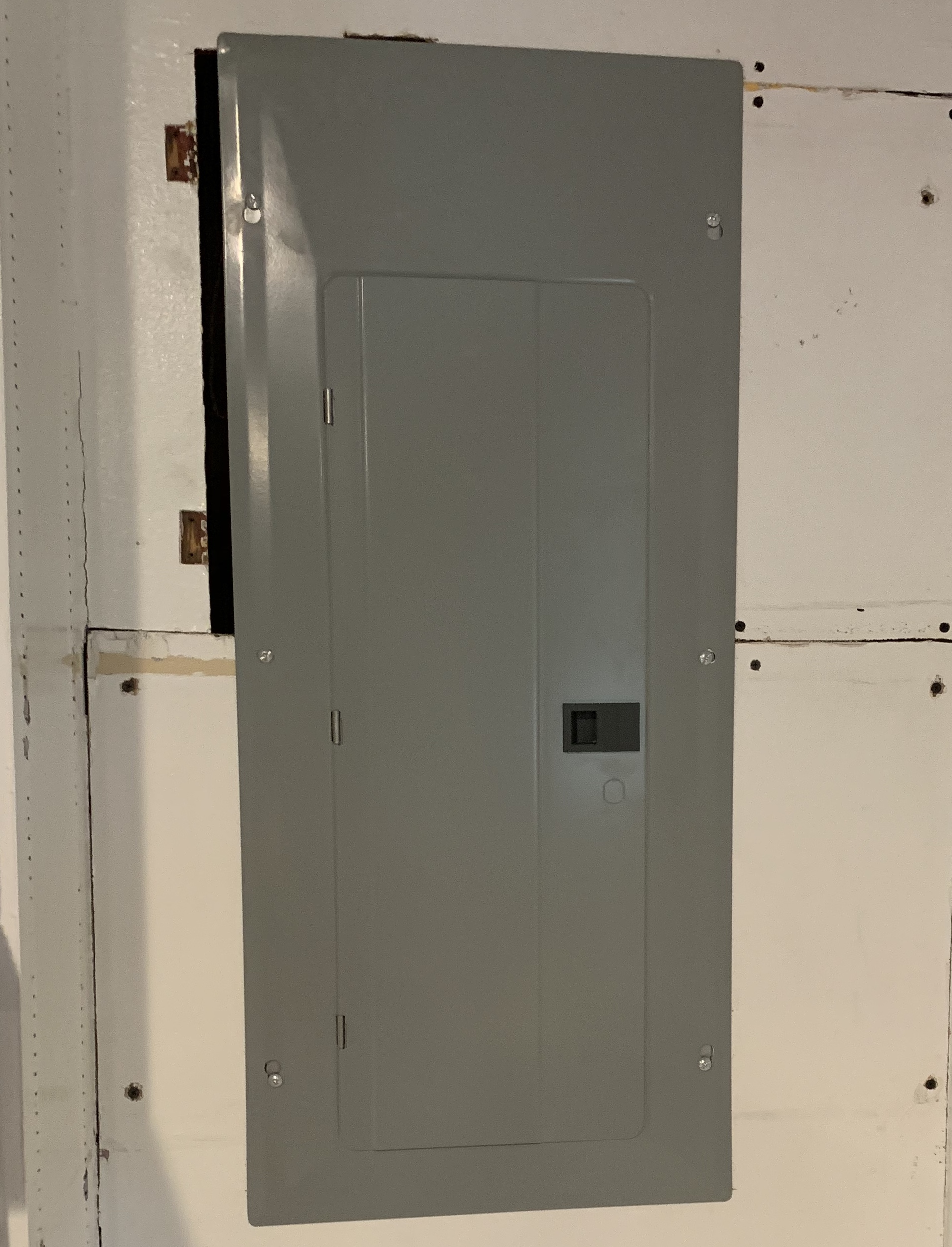 New electrical panel- and it's more than twice as big as the original
