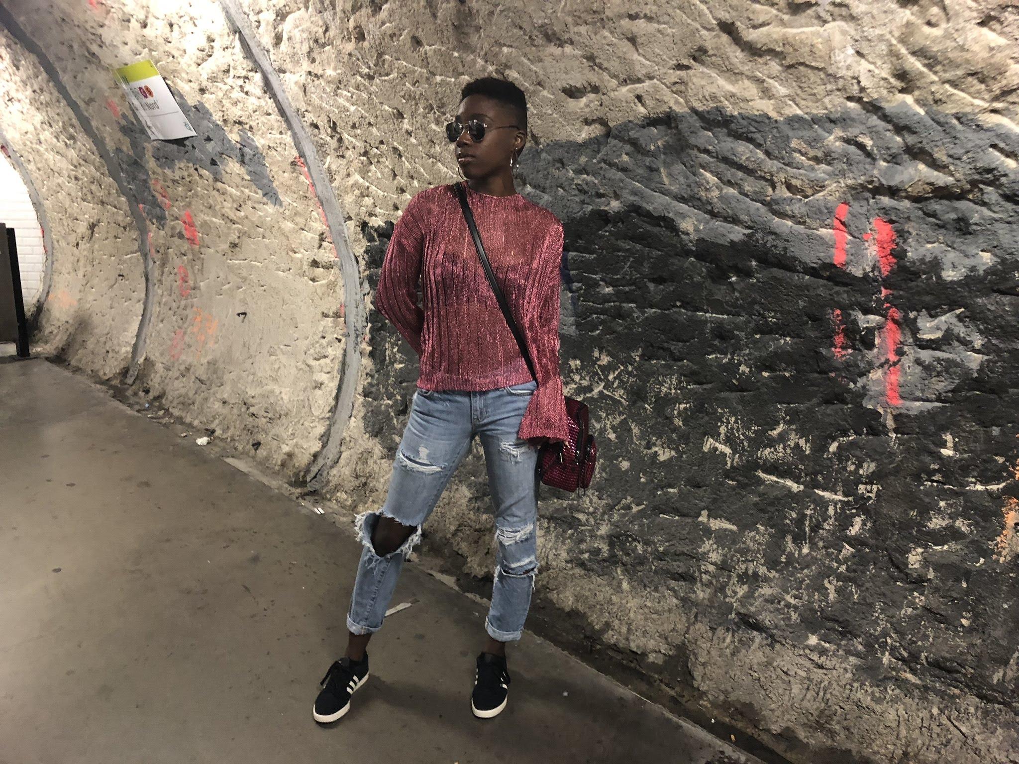Missguided Top - Gap Boyfriend Jeans,Adidas Neo SneakersJuicy Bag from T.J. Maxx