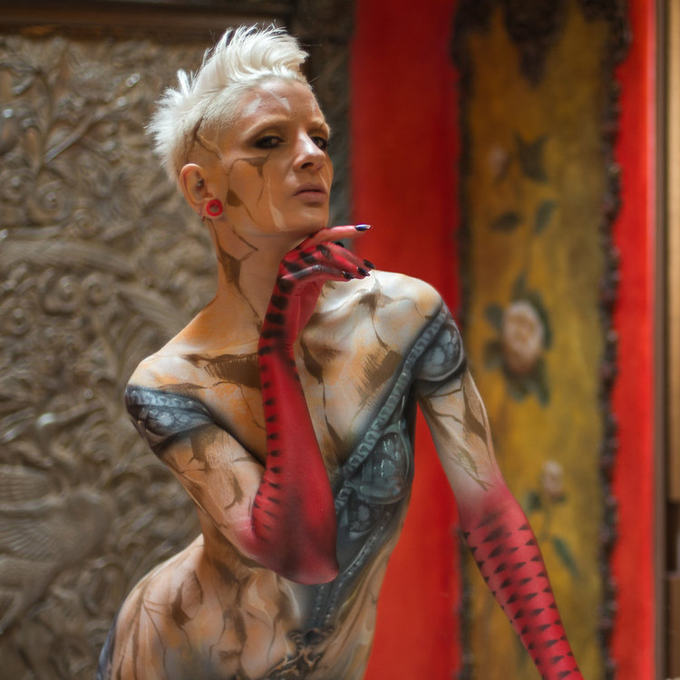 Images and bodypaint by  Roustan