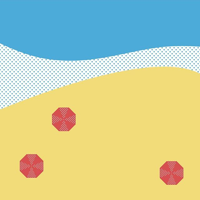 thinking about the beach 🏖 • • • •  #design #lifesabeach #summer #vector #illustrator #lol #beach #beeeeeeeeach #umbrella #primary #asdfghjkl #illustration #minimal #dots #hashtag #okthatsit #thanksforstoppingby