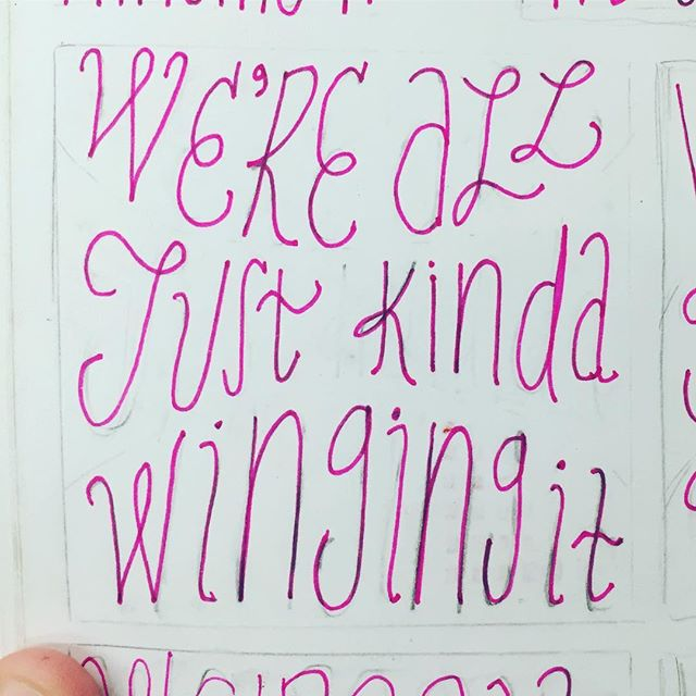 tired of trying to make everything look perfect and polished for Instagram and in turn not posting anything because nothing is ever perfect anyways. • • • • #fuckit #notetoself #thumbnailonathumbnail #imgoingtopostmoreiswear #tired #lifesabeach #livelaughlove #wordsofwisdom #pink #handtype #doodle #sketchbook #artjournal #typography #graphicdesign #design #art #stabilo #justlikeAbirdbecause #imwingingit #hashtagsseriouslystressmeout #theyinvalidateme #andvalidateme #blessed #ok #thanksforstoppingby